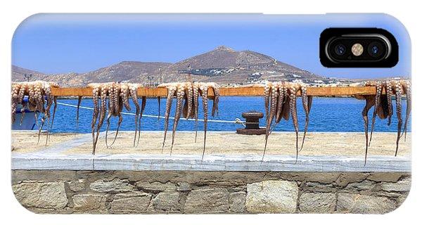 Squid iPhone Case - Paros - Cyclades - Greece by Joana Kruse