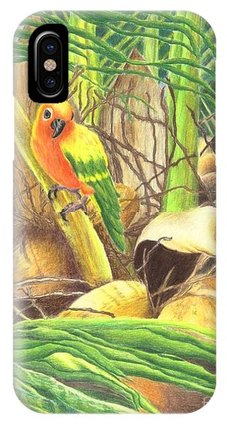 Parrot In Palm IPhone Case