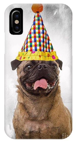 Pug iPhone Case - Party Animal by Edward Fielding