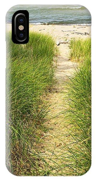 Grass iPhone Case - Path To Beach by Elena Elisseeva