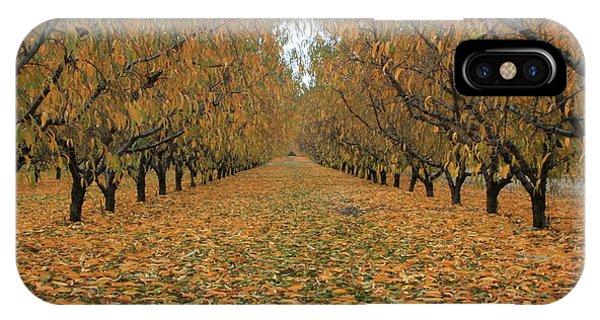 Peach Leaves IPhone Case