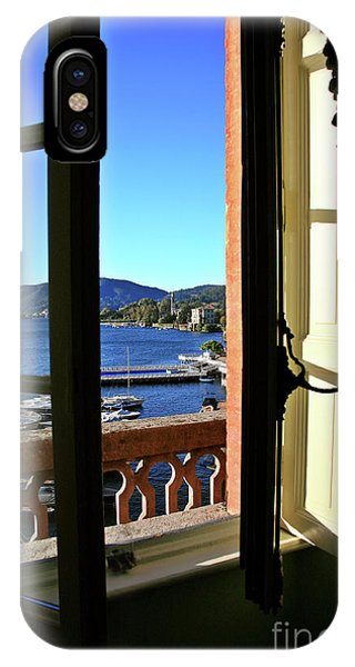 Villa D'este Window IPhone Case
