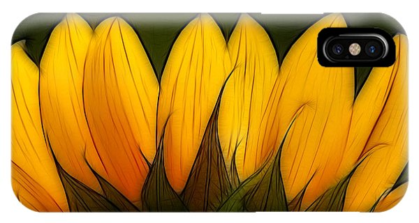 Sunflower iPhone Case - Petales De Soleil - A12 by Variance Collections
