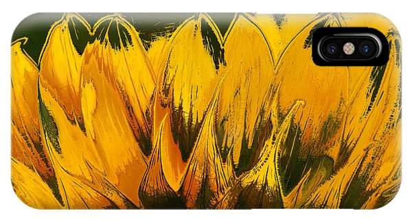 Sunflower iPhone Case - Petales De Soleil - A41b by Variance Collections