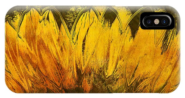 Sunflower iPhone Case - Petales De Soleil - A43t02b by Variance Collections