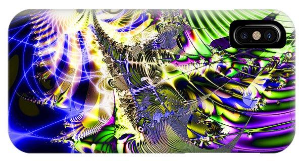 Julia Fractal iPhone X Case - Phantasm by Wingsdomain Art and Photography