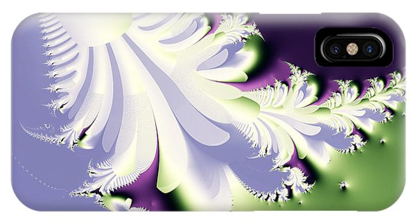 Julia Fractal iPhone X Case - Phantom by Wingsdomain Art and Photography
