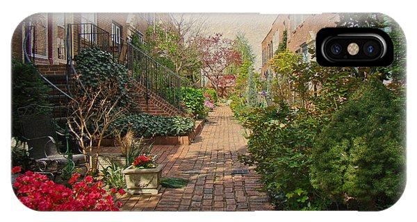 Philadelphia Courtyard - Symphony Of Springtime Gardens IPhone Case