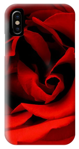 Photograph Of A Red Rose IPhone Case