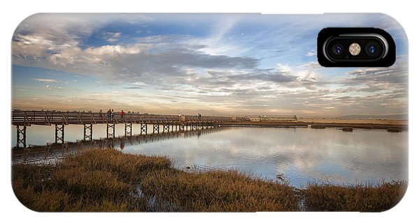Photographers On Bridge At Sunset IPhone Case