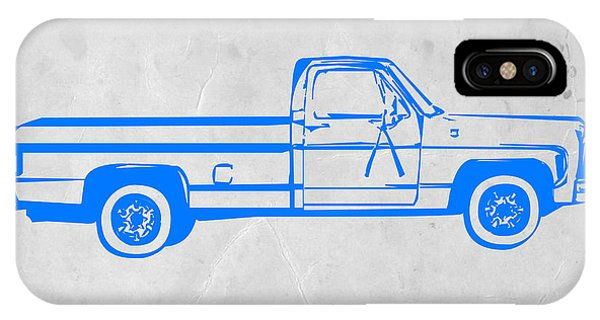 American iPhone Case - Pick Up Truck by Naxart Studio