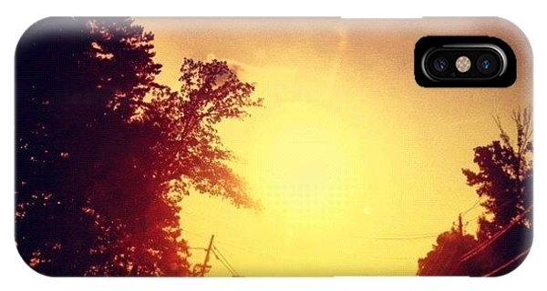 Edit iPhone Case - Picking Up Dinner #driving #sunset #sun by Katie Williams
