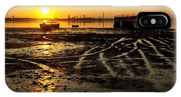 Alga iPhone X Case - Pier At Sunset by Carlos Caetano
