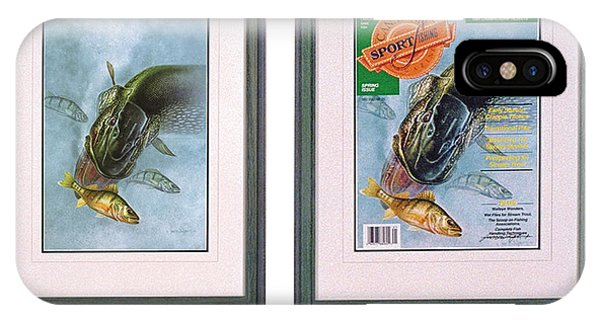 Magazine Cover iPhone Case - Pike Fishing Original And Magazine by JQ Licensing