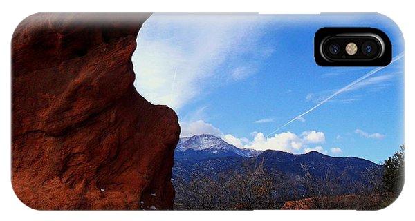 Jut Rock Over Pikes Peak IPhone Case