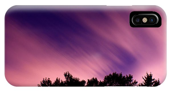 Treeline iPhone Case - Pink Clouds by Cale Best