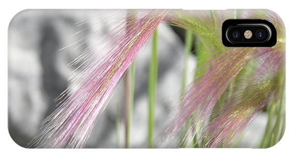 Pink Grass Phone Case by Alan Clifford