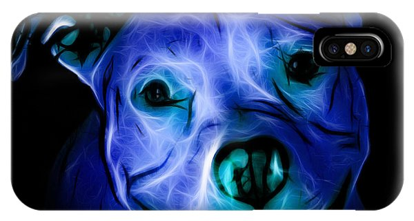 Pitbull Terrier - F - S - Bb - Blue IPhone Case