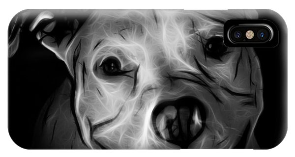 Pitbull Terrier - F - S - Bb - Greyscale IPhone Case