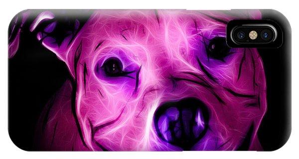 Pitbull Terrier - F - S - Bb - Magenta IPhone Case