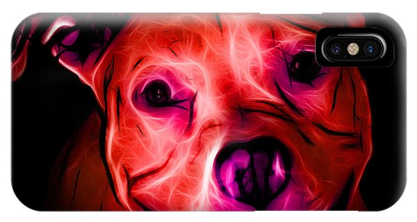 Pitbull Terrier - F - S - Bb - Red IPhone Case