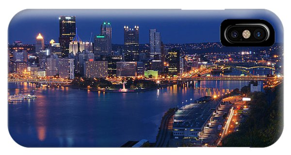 Pittsburgh In Blue IPhone Case