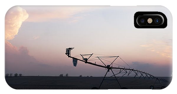 Pivot Irrigation And Sunset IPhone Case