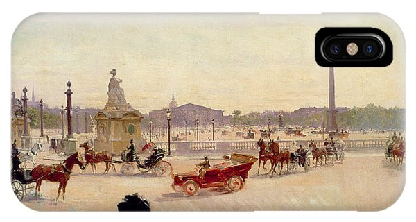 Concorde iPhone Case - Place De La Concorde - Paris  by Georges Fraipont