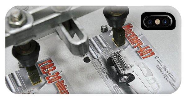 Plastic Smart Card Testing IPhone Case