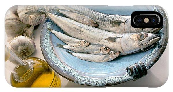 Plate Of Mackerel Phone Case by Erika Craddock