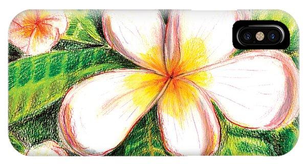 Plumeria With Foliage IPhone Case