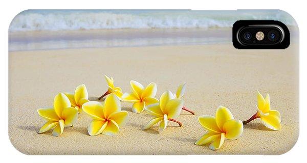 Plumerias On Beach II IPhone Case