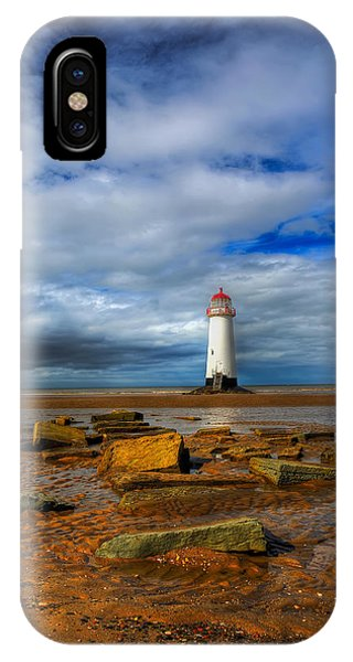 Navigation iPhone Case - Point Of Ayr Beach by Adrian Evans
