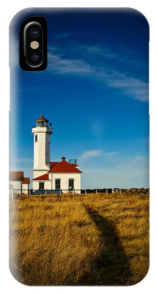 Port Townsend iPhone Case - Point Wilson Lighthouse by Dan Mihai