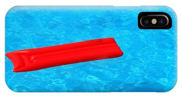 Cool iPhone Case - Pool - Blue Water And Red Airbed by Matthias Hauser