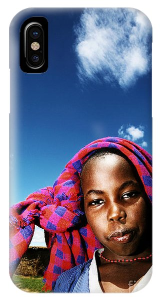 Poor African Child Outdoor Portrait Phone Case by Anna Om