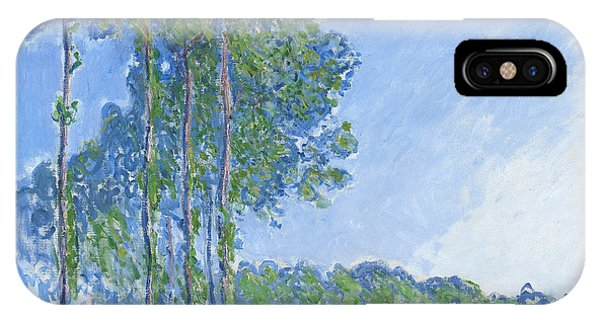 Impressionism iPhone X Case - Poplars by Claude Monet