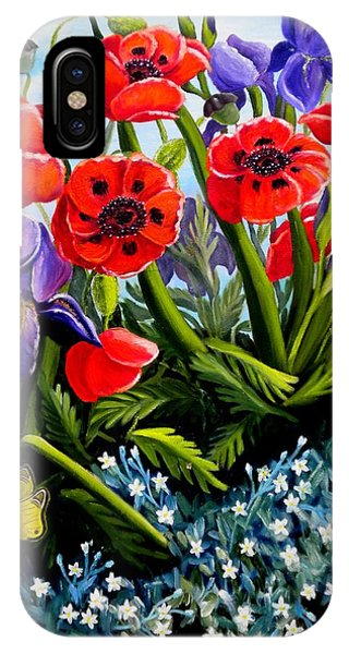 Poppies And Irises IPhone Case