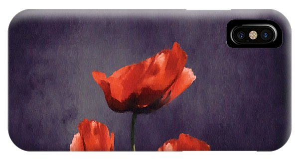 Poppies iPhone Case - Poppies Fun 03b by Variance Collections