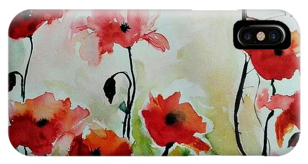 Poppies Meadow - Abstract IPhone Case