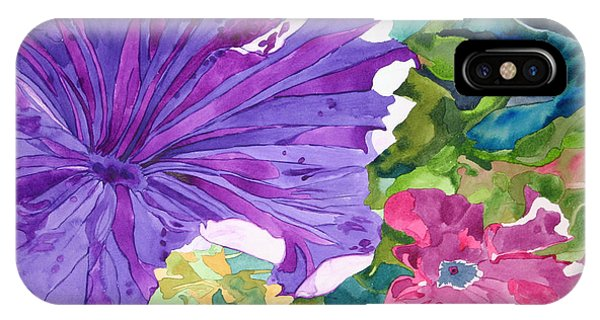 Popping Petunias IPhone Case
