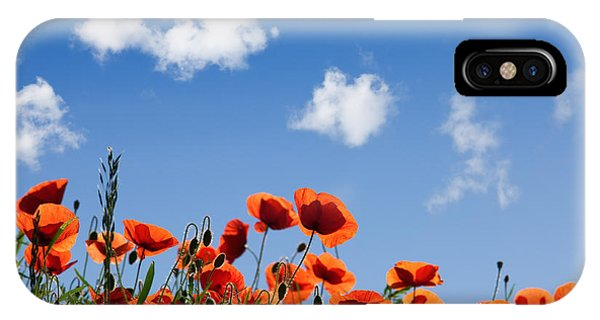 Blooming iPhone Case - Poppy Flowers 05 by Nailia Schwarz