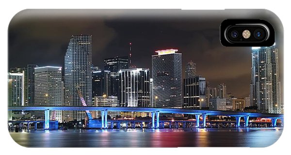 Port Of Miami Downtown IPhone Case