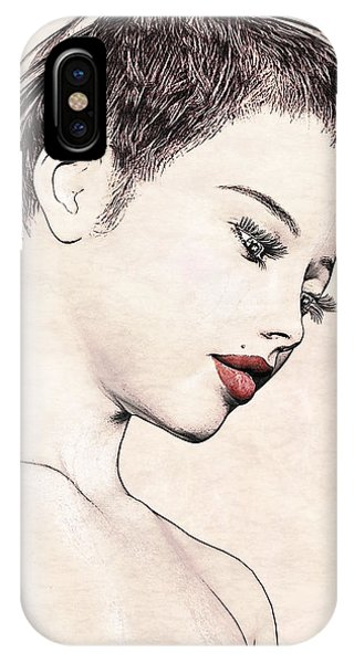 Portrait - No. 10 - Red Lips IPhone Case