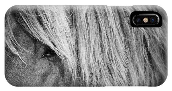 Portrait Of A Wild Horse IPhone Case