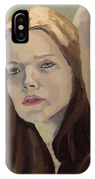 IPhone Case featuring the painting Portrait Of Ashley by Stephen Panoushek