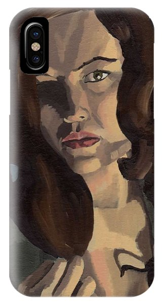 IPhone Case featuring the painting Portrait Of Emily Ann by Stephen Panoushek
