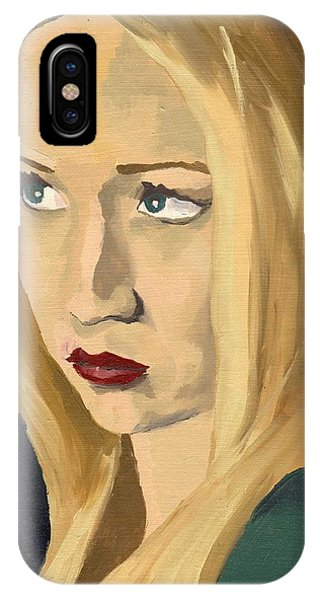 IPhone Case featuring the painting Portrait Of Emily by Stephen Panoushek
