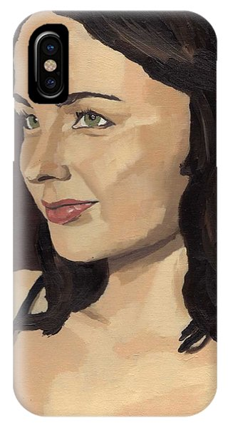 IPhone Case featuring the painting Portrait Of Solomia by Stephen Panoushek
