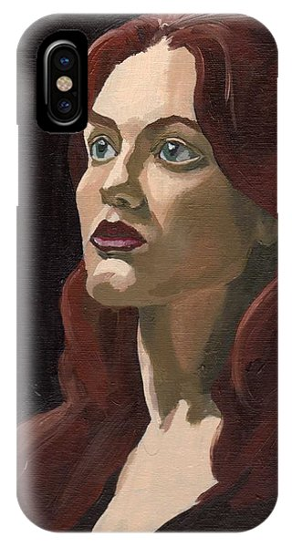 IPhone Case featuring the painting Portrait Of Virginia P by Stephen Panoushek